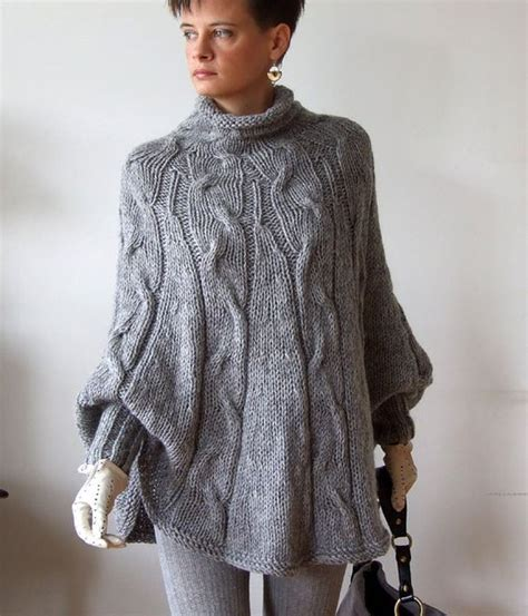 knitted cape poncho knitted poncho braided cape sweater fall fashion
