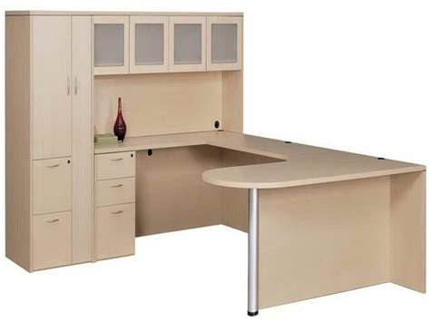 u shaped desk with hutch furniture u shaped desk with hutch and decoration u