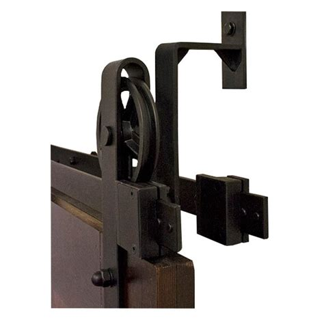 black barn door hardware by passing hook black rolling barn door hardware kit