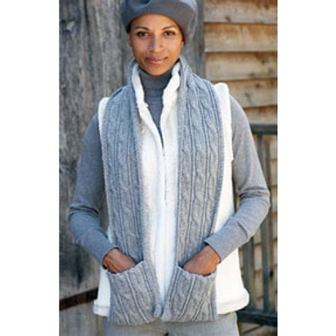 Free Cabled Scarf With Pockets Knit Pattern