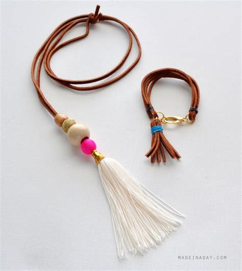 how to make tassels for jewelry suede tassel necklace