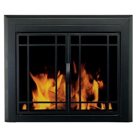 fireplace glass shop pleasant hearth easton black medium cabinet style