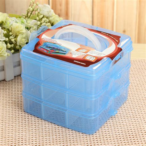 rubber st storage containers 3 layer transparent storage box for makeup jewelry rubber