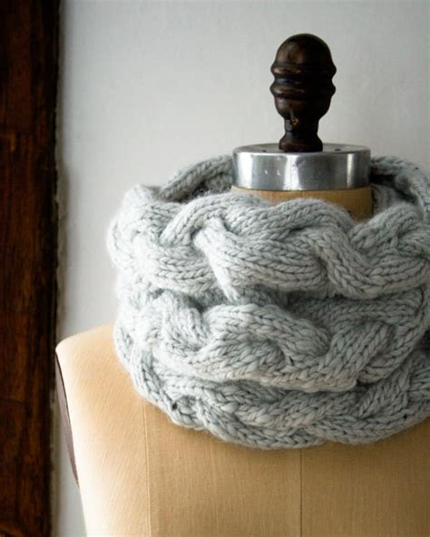 knit braided cable braided cable cowl purl soho create