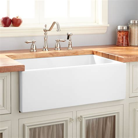 kitchen apron sinks 24 quot risinger reversible fireclay farmhouse sink smooth