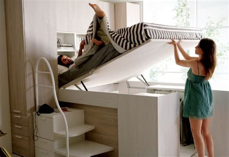 Ikea Space Saving Beds camera matrimoniale a soppalco modus container