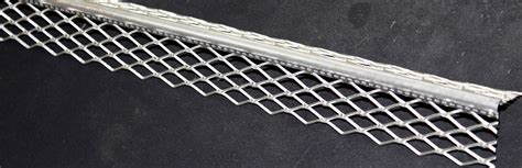 corner for render corner bead in stainless or galvanized expanded perforated