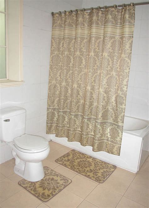 bathroom sets shower curtain rugs home dynamix decorators touch shower curtain and bath rug