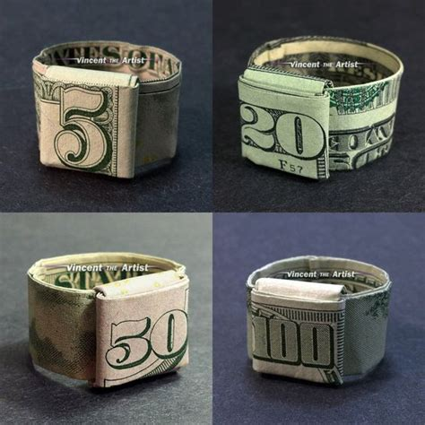 dollar bill origami ring money origami origami and money on