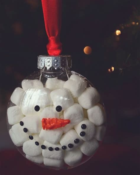easy crafts for marshmallow snowmen 25 unique clear ornaments ideas on