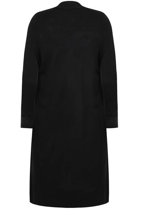 black knit cardigan black maxi knit cardigan with pockets plus size 16 to 36