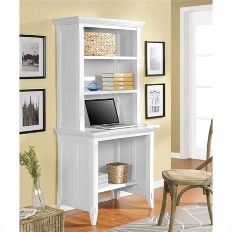 desk with small hutch altra furniture amelia desk with hutch in white