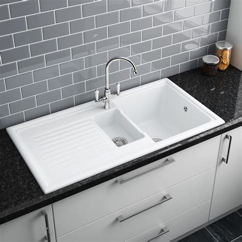 b q kitchen sinks ceramic kitchen sinks b q reversadermcream