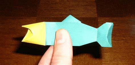 origami fishing pole singing fish gif images