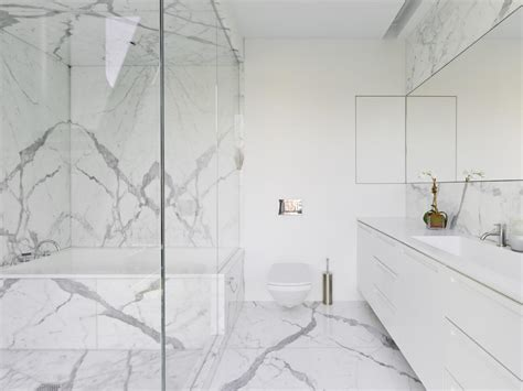 modern marble bathroom marble bathrooms we re swooning hgtv s decorating