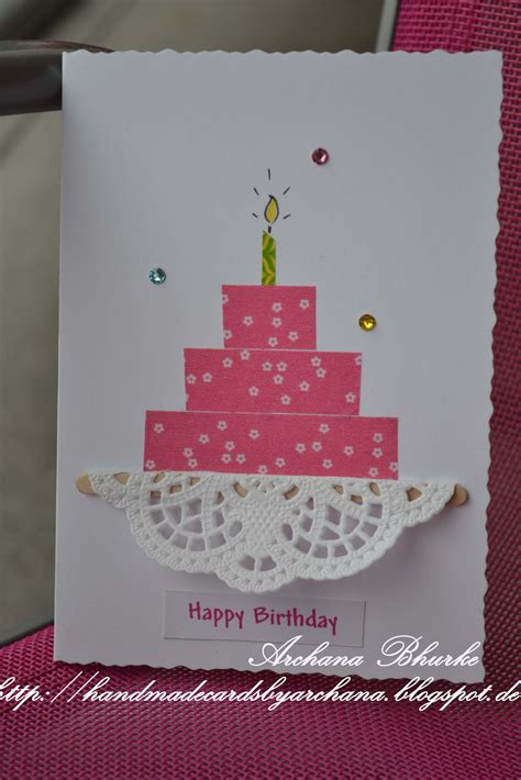 make happy birthday cards handmade cards by archana happy birthday