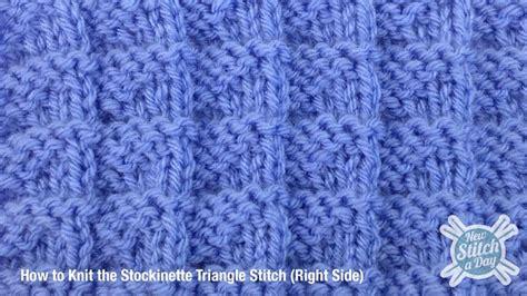 rs knitting the stockinette triangle stitch knitting stitch 108