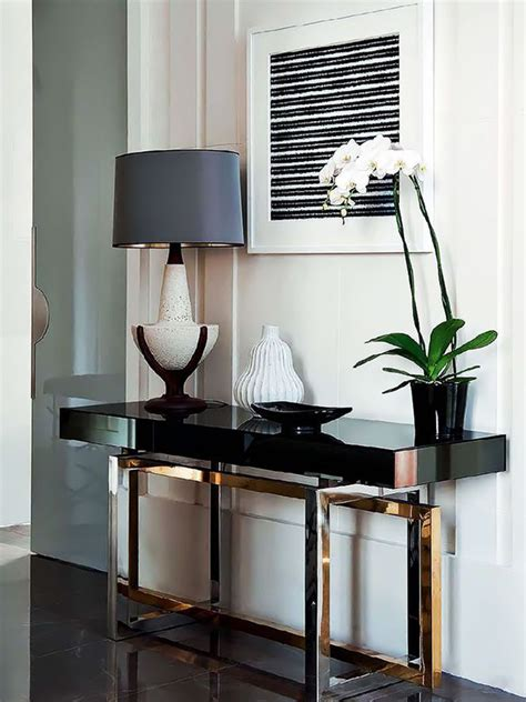 console tables for living room how to decorate a living room with a modern console table