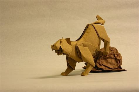 tiger origami origami on 50 pins