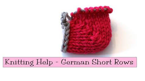 knit help knitting help german rows