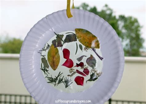 suncatcher craft for nature suncatcher craft for coffee cups and crayons