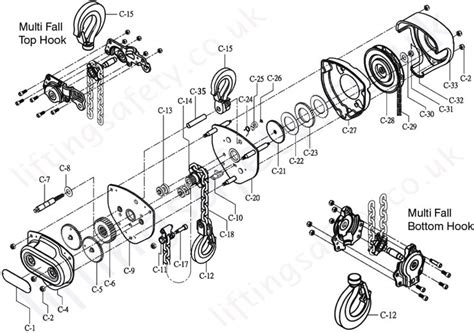 chain and components tiger manual chain hoist top hook suspended range