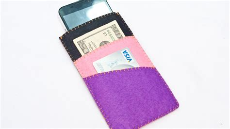 how to make a card holder how to make cool phone with money and card holder
