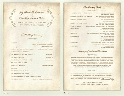 design programs 30 wedding program design ideas to guide your guest