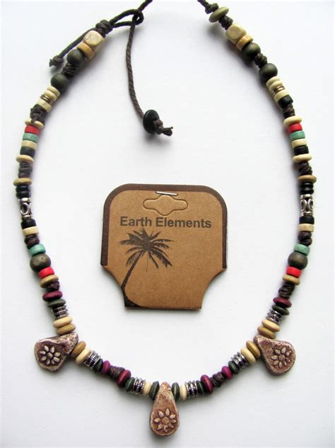 mens beaded jewelry cuba earth elements spiritual beaded necklace