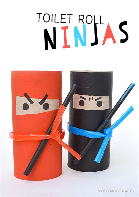 paper craft for boys mollymoocrafts crafts for toilet roll ninjas