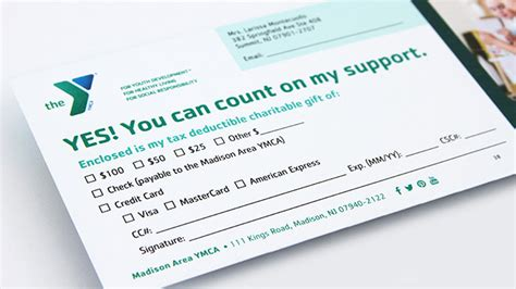 cards for profit ymca annual appeal mail caign trillion creative