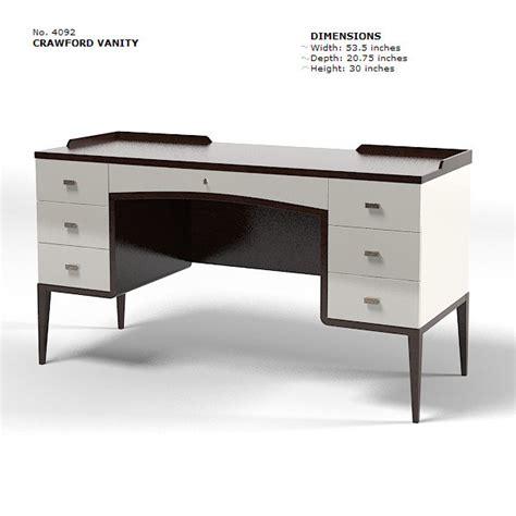 modern vanity desk baker bill sofield 3d model