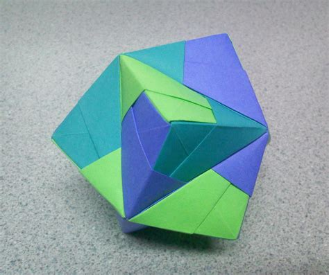 top origami origami stellated octahedron top by theorigamiarchitect