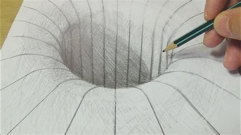 craft drawing paper drawing with graphite pencil illusion trick