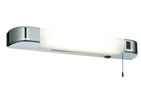 saxby glint bathroom led shaver light mirror wall light