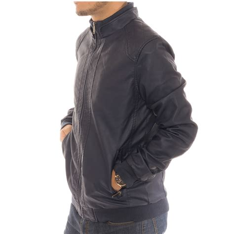 lined leather jacket s motorcycle bomber faux leather jacket fleece lined with zippered pockets ebay