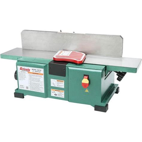 woodworking jointer reviews 6 quot x 28 quot benchtop jointer grizzly industrial