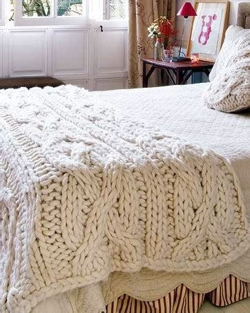 knitting a big blanket large knitted cable blanket