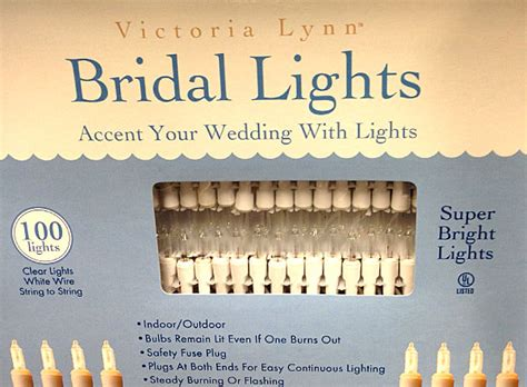 bridal lights white wire bridal lights with 100 clear bulbs and white wire