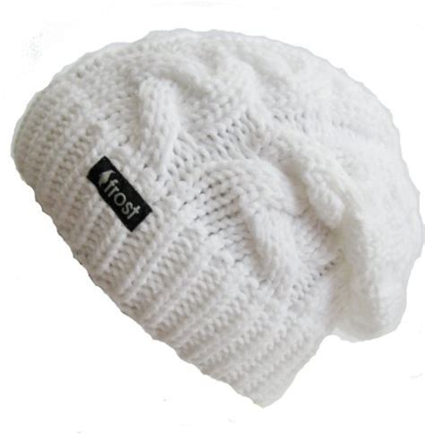 white knit beanie hats winter hat for white slouchy beanie cable