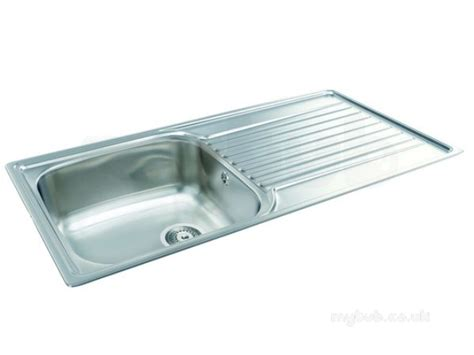 single bowl kitchen sink with drainer contessa kitchen sink with left large single bowl and