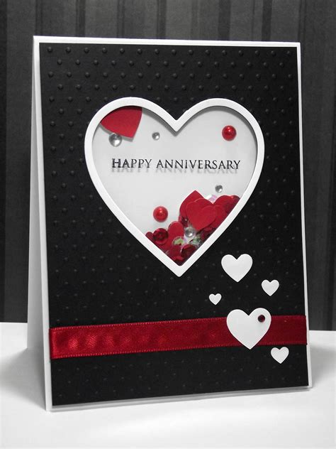 how to make a anniversary card my inky corner shaker anniversary card