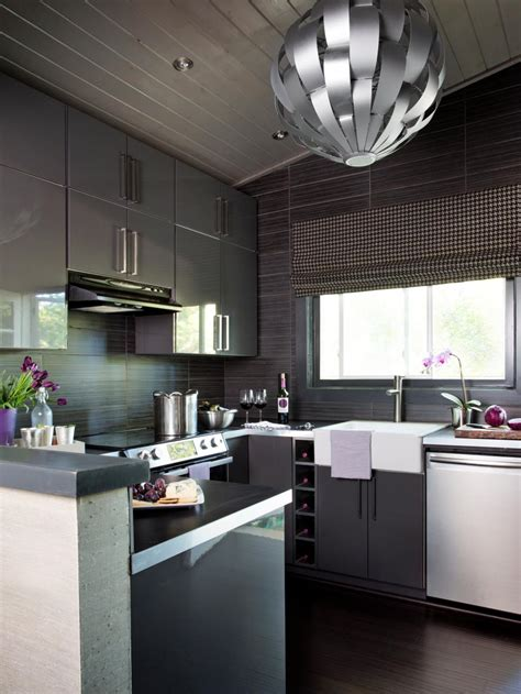 modern kitchen cabinets design ideas gray kitchens bathrooms and more hgtv