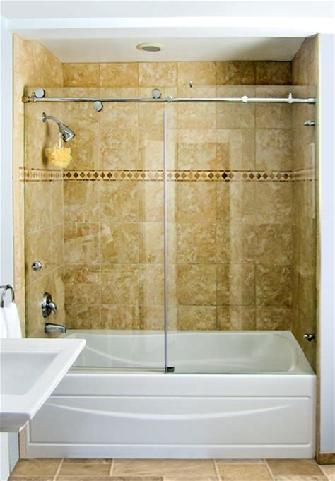 Over Bath Shower Enclosures shower doors custom glass shower doors and enclosures