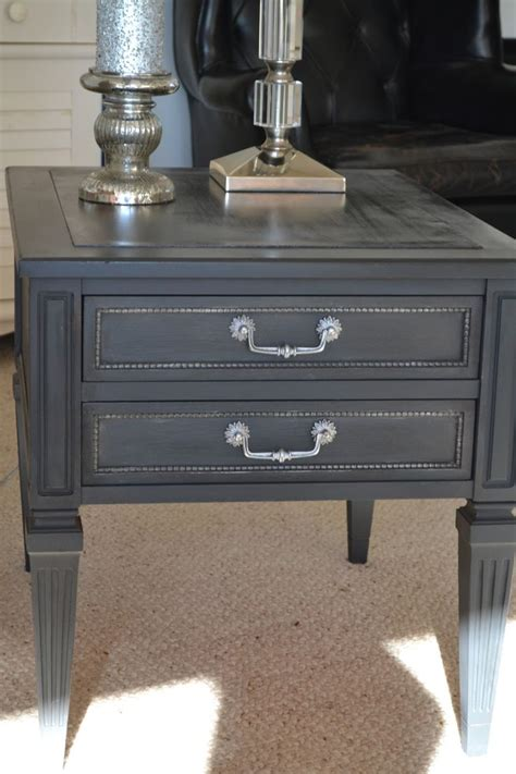 chalk paint end tables sloan paint graphite house of babs end table