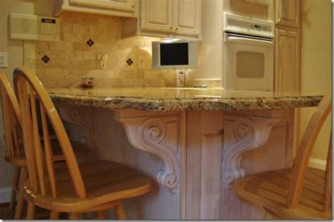 kitchen island corbels accenting your kitchen remodel with carved corbels osborne wood