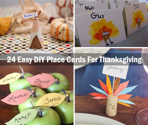 how to make thanksgiving place cards 24 easy diy ideas for thanksgiving place cards 2015