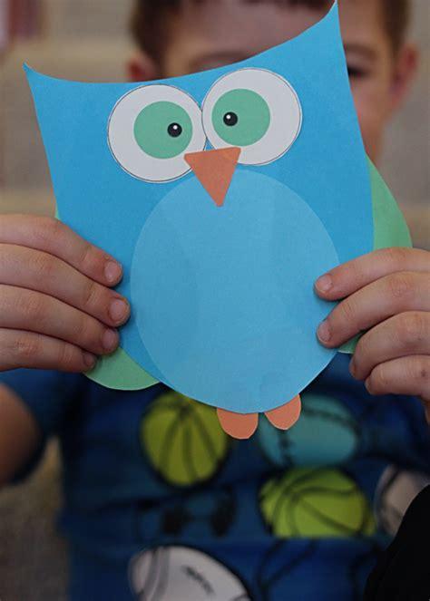 owl crafts for printable owl craft choose pink or blue