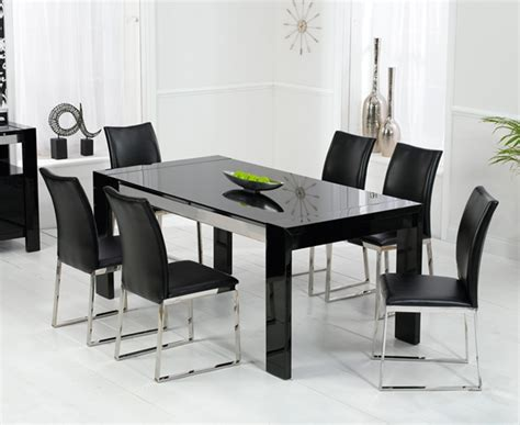 black dining tables and chairs scala black gloss dining table oak furniture solutions