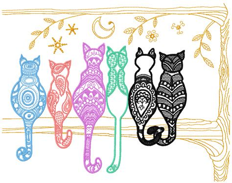 machine patterns free rainbow cats free embroidery design free embroidery